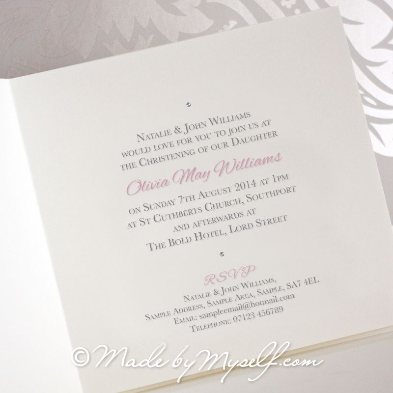 balloon christening invitation girl